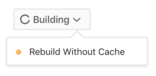 Rebuild Without Cache